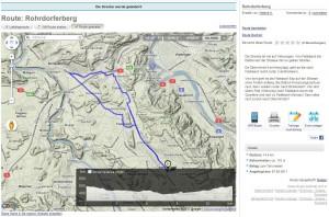 Strecke Oberrohrdorf