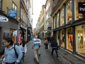 Einkaufsstrasse in Stockholm