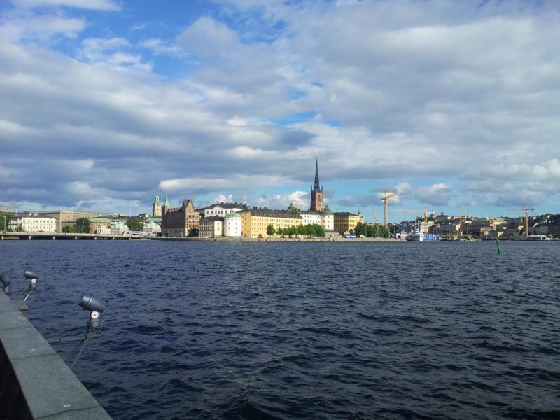 Stockholm Sicht vom Wasser