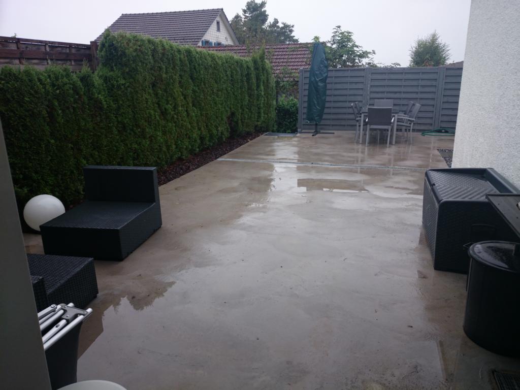 Umbau Garten 20 – Teil 20   Terrasse betonieren   Helene Umiker